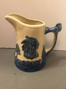 Large Antique Stone Ware Pitcher W Indian Cheif