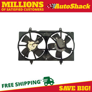 New Radiator Dual Fan Assembly Fits Nissan 2002 2006 Altima 2003 2008 Maxima