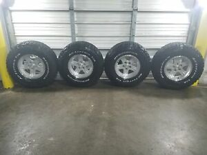 2004 Jeep Wrangler 15 Wheels Tires Set Of 4 15x8 31x10 50r15lt Oem Lkq