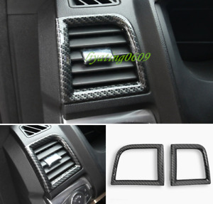 Carbon Fiber Style Side Air Vent Outlet Cover Trim For Ford Explorer 2013 2018
