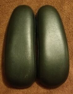 Herman Miller Aeron Part One Set Of Used Leather Arm Pads Lot 2