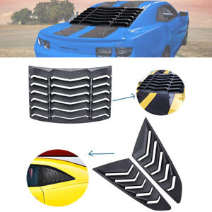 Rear Window Louver Quarter Side Scoop Covers Vent For 2010 2015 Chevy Camaro