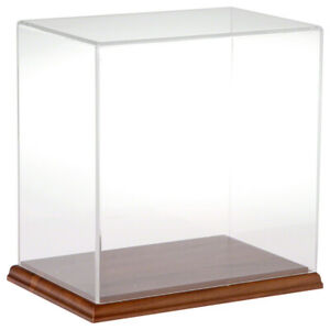 Plymor Acrylic Display Case With Hardwood Base 9 W X 6 D X 9 H