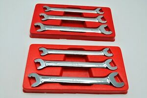 Mac Tools Rapid Open End Wrench Sets Metric 10 15mm Sae 5 16 5 8 In Trays