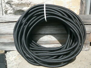 Black Nylon Coated Rubber Rope Shock Cord 3 8 X 90 Marine Grade Bungee Cord