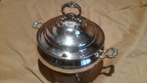 Stunning Baroque By Wallace Silverplate Footed Tureen H99028