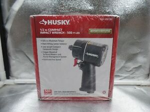 Husky 1001 659 931 1 2 Inch Low Weight Compact Impact Air Wrench 500ft Lbs