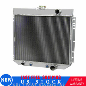 3row Aluminum Radiator For Ford Mustang Falcon L6 V8 Engine 1966 1970 68 67 69