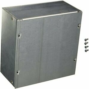 Hoffman Asg8x8x4nk Pull Box Screw Cover Galvanized 8 X 8 X 4