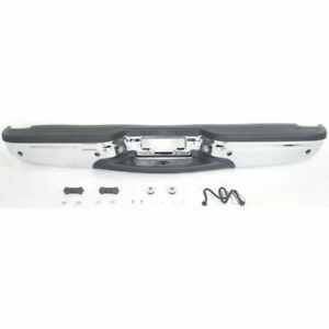 Step Bumper For 2000 02 Ford Expedition W Blk Pads Ros Holes Steel Chrome
