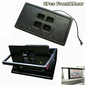 Hide away Shutter Cover Up Electric Stealth Retractable License Plate Frame Us