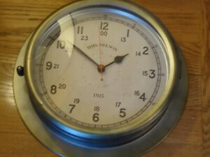 Hms Nelson Ship Port Hole Clock Metal A Very Nice Looking Very Contemporary