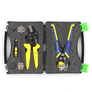 Wire Crimpers Ratcheting Terminal Crimping Pliers Bootlace Ferrule W Box Us O1p2