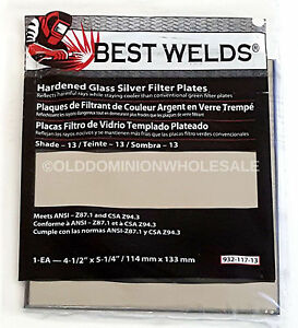 X4 Best Welds 932 117 13 Protection Hardened Glass Silver Plate 4 5 X 5 25