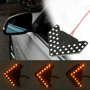 33smd Led Arrow Light Car Side Mirror Turn Signal Indicator Amber Sequential
