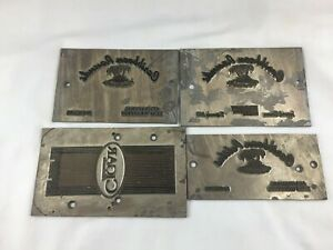 4 Cigar Hot Foil Embossing Plate Cast Stamps 8 X 5 3 Caribbean Rounds Cigars
