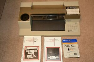 Vintage Hp Paper Plotter 7475a Hp ib Interface With Manuals And Pens