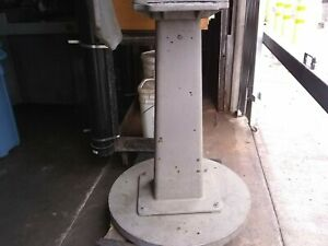 Vintage Cast Iron Industrial Table Base Pedestal Antique Repurpose