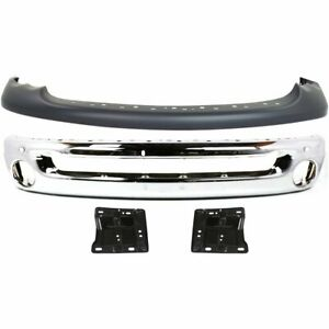 Front Bumper Cover Kit For 2002 2005 Dodge Ram 1500 W Bumper Brackets Bumper