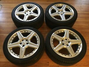 Free Shipping Rare Oem Mercedes Amg Cl550 Wheels 19 Genuine 2 Piece Pirelli
