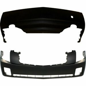 Front Rear Bumper Cover Set For 2004 2007 Cadillac Cts 3 6l Eng Primed Plastic