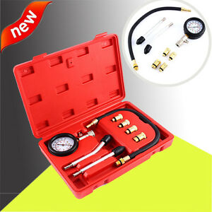 Automotive Petrol Engine Compression Kit Gauge Car Motorcycle Box Vacuum Testers