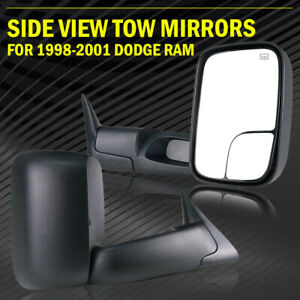 For 1998 2001 Dodge Ram 1500 2500 Left Right Power Heated Flipup Towing Mirrors