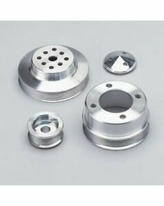 Pulley Kit High Water Flow Serpentine Alum Clear Chevy Small Block Kit