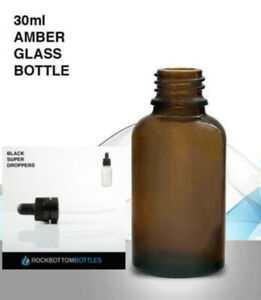 30ml Amber Glass Bottles W child Resistant Dropper Cap