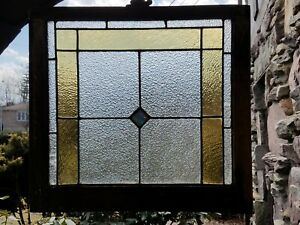 Very Old Antique Stained Glass Window Nice Original Hardware
