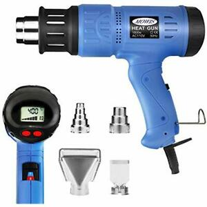 Heat Gun 1800w Heavy Duty Hot Air Shrink With Lcd Display Temperature And Wind