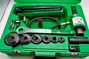 Greenlee Tool 7306sb Ram 746 Hydraulic Knockout Punch Driver Set 4 Extras