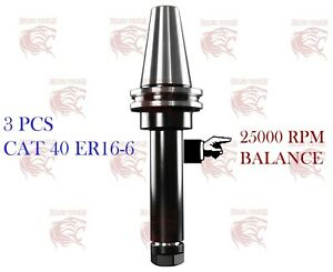 3 Pcs Cat 40 Er16 6 0002 Accuracy G 2 5 25000 Rpm Good For 5 Axis