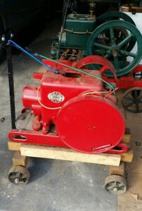 Antique Old 3 Hp International Harvester Hit Miss Gas Engine With Cart Steam
