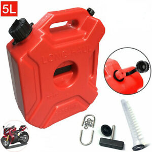 Jerry Can Gas Fuel Tank Storage Containerpetrol Motorcycle car 1 3gallon 5l Red