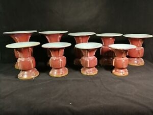 Beautiful Chinese Jun Yao Porcelain A Set Vases