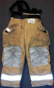 38x30 Pants Firefighter Turnout Bunker Fire Gear W Liner Globe Gxtreme P618