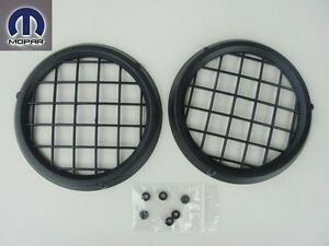 Jeep Wrangler 1997 2004 Front Bumper Fog Light Lamp Hole Covers Set