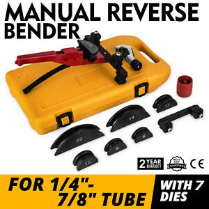 Multi Manual Pipe Tube Bender Tool Kit 1 4 7 8 7 Dies Steel Conduit Copper