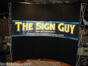 Trade Show Booth Display Pop Up Kit On Wheels With Lights Dallas Texas