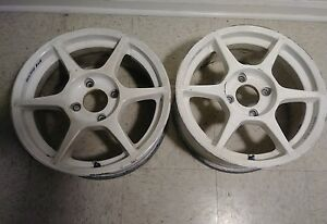 2 16 Buddy Club P1 Racing 4x114 3 Jdm Wheels Light Weight Track Drift Vip Rare