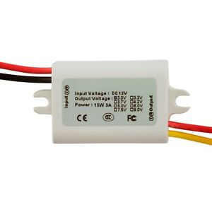 12v To 3v 3a Step down Waterproof Miniature Dc dc Converter Power Supply Module