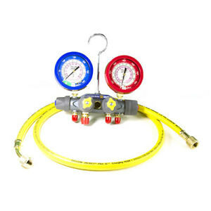 Yellow Jacket 49977 Titan 4 valve Test Charge Manifold r 22 410a f