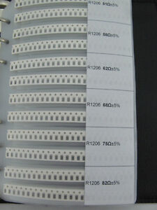 1206 Package A Complete Smd Smt Chip Resistor Folder Kit 170 Value 8500pcs