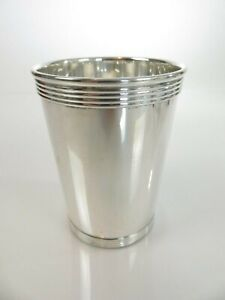 Fine Heavy Vintage Empire Sterling Silver Mint Julep Cup New York