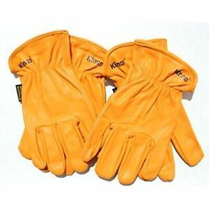 Kinco Buffalo Leather Working Gloves For Men 2 pack Tough Durable Skin Lasts