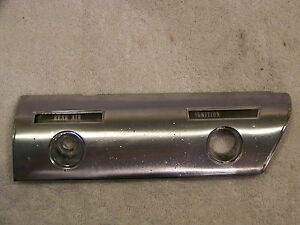 1966 Chrysler Imperial Rear Air Ignition Chrome Trim Panel 2491601