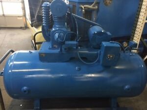 Rebuilt Saylor beall 5 Hp Splash Lub Two Stage Elec Motor Vertical Tank 3 Phase