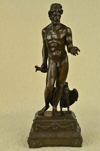 Greek Bronze Statue Of Ganyemede Zeus As An Eagle 19 X 7
