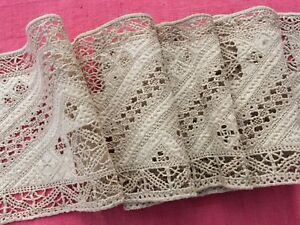 Stunning Antique French Embroidery All Hand Sewn 112 Cms Long